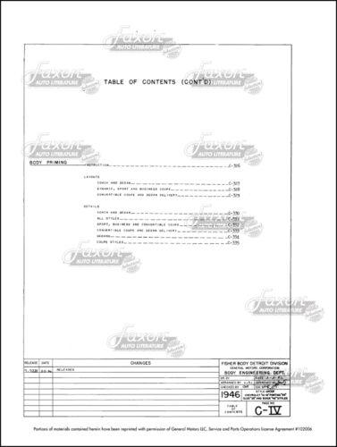 1946 1947 1948 Pontiac Torpedo Olds 66-68 Fisher Body Assembly Manual set of 3