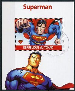 Chad-2016-CTO-Superman-1v-M-S-Comics-Cartoons-Superheroes-Stamps