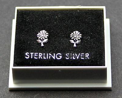STERLING SILVER 925, STUD EARRINGS, SMALL SUNFLOWER, BUTTERFLY BACKS, STUD 184