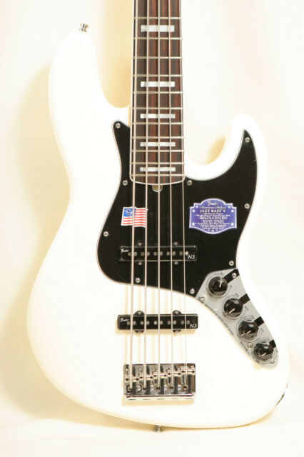 2015 USA Fender American Deluxe Jazz J Bass V 5 String Guitar w/Case Unplayed