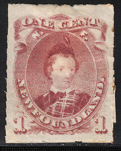 NFLD 1877 1c Brown Lilac Prince of Wales, Scott 37, VF MHR, catalogue - $200