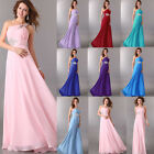 New Chiffon Formal Gown Prom Bridesmaid Bridal Cocktail Party Long Evening Dress