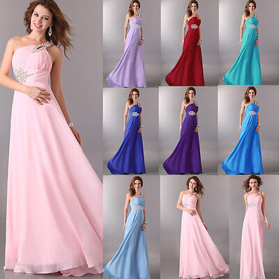HOT Long Sexy Chiffon Bridesmaid Formal Gown Party Cocktail Evening Prom Dresses