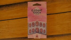 NEW-ELEGANT-TOUCH-FALSE-NAILS-PINK-PARADISE-COLLECTION-C-E-OWN-IT-10-SIZES-OVAL