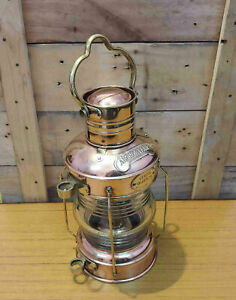 Antique-Style-Brass-Ship-Oil-Lantern-Hanging-Lamp-Collectible-Vintage-Gift