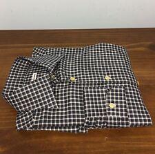 $895 KITON *2017!*Plaid Check~MOP Buttons~luxury dress shirt Flannel Cotton 15.5