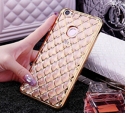2017 New Fashion Shockproof 3D Grid Soft Gel Protective Case Cover For Samsung