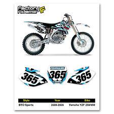 2006-2009 YAMAHA YZF 250-450 Custom Number Plates