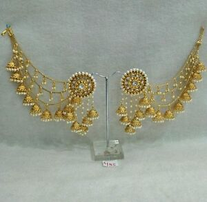 Image Is Loading Earring Indian Bollywood Designer Gold Plated Jhumka Ethnic