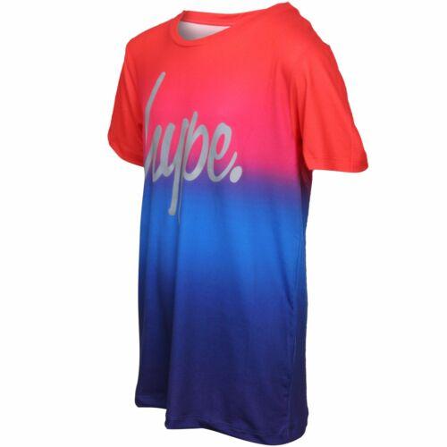 Hype Boys Rainbow Fade Crew-Neck T-Shirt Red//Blue