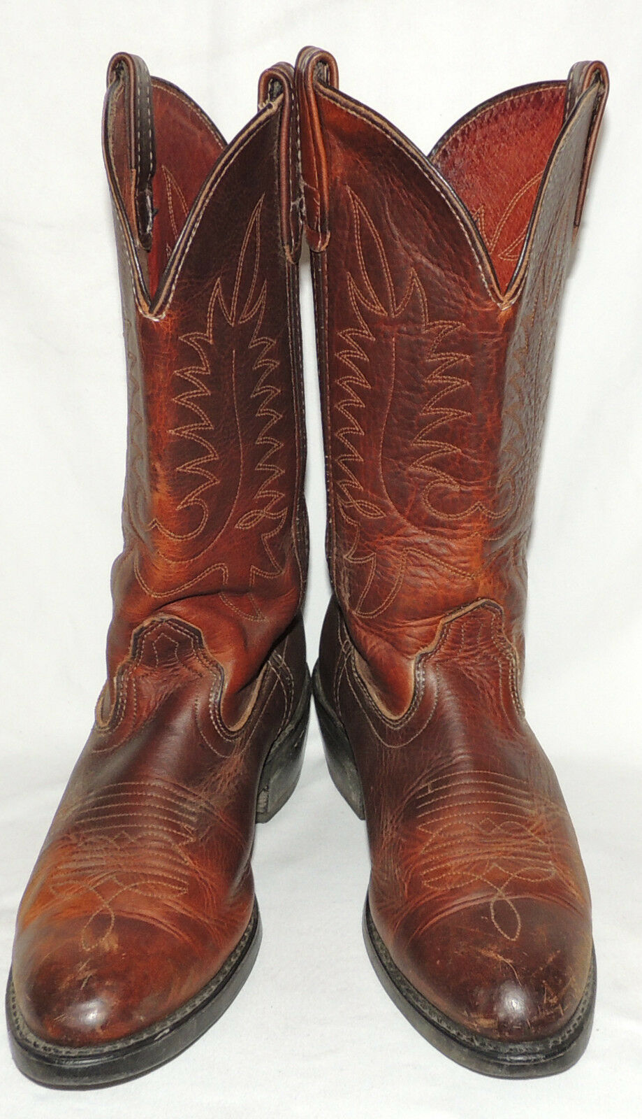 MEN'S DD TUFF 'OILED BROWN' WESTERN BOOTS SIZE 10 D