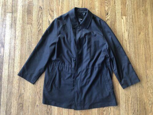 Sanyo New York Rain Coat sz Large Black Trench PR0