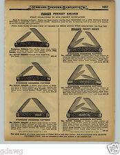 1929 PAPER AD 16 PG Hibbard Pocket Knife Knives Congress Federal Co Pearl