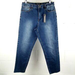 Max-Jeans-Mom-Jean-Women-Size-12-Blue-Stretch