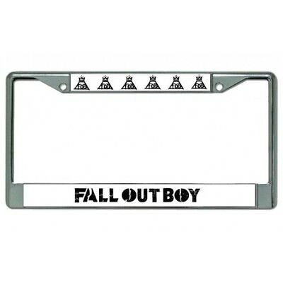 Fall Out Boy Music Alternative Rock Band Chrome License Plate Frame made in usa