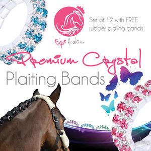 12 premium crystal gem cheval tressage bandes-diverses couleurs et tailles en stock-afficher le titre d`origine oE3ijCPZ-07163857-386104752