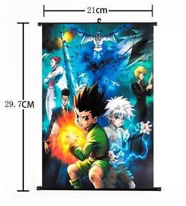 "Hot Japan Anime Hunter X Hunter Cosplay Home Decor Wall Scroll Poster 8/""x12/"" 018"