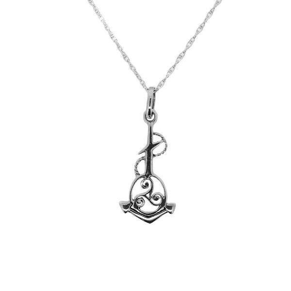Outlander Inspirado Ancla Náutica Celta Trisquel Colgante de silver