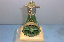STUART TURNER  LIVE STEAM  MODEL OF A  VERTICAL  ENGINE & WOODPLINTH