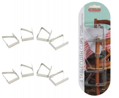 Acier Inoxydable 8X Nappe De Table Nappe Clips Support de serrage Mariage Fête UK