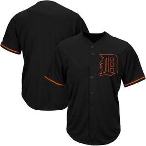 Detroit-Tigers-MLB-Mens-Majestic-Black-Fashion-Jersey-Big-amp-Tall-Sizes