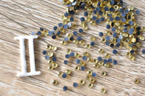 Gold 2mm//SS06 Hotfix 700pcs-3500pcs Glass Rhinestone Iron On Flatback Yellow