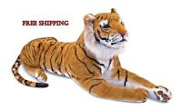 Tiger Large Giant Real Jumbo Huge Big Soft Realistic Toy Kids Childs Cuddle Doll