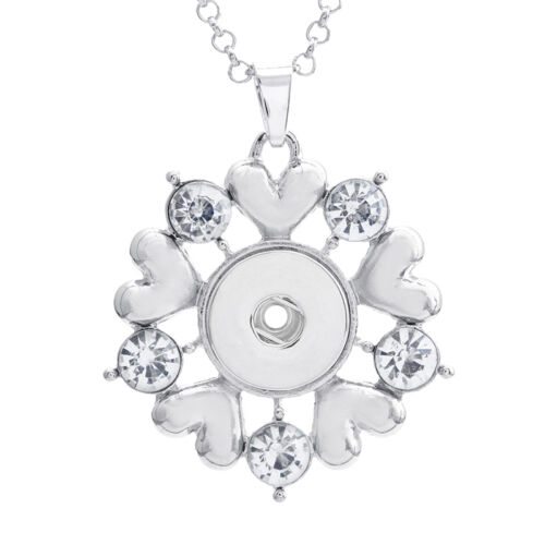 18mm Charm Crystal Alloy Pendant for Fit Noosa Necklace Snap Chunk Button A223