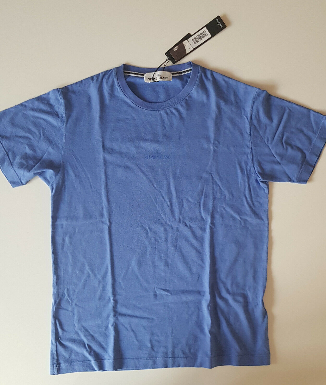 STONE ISLAND T-hemd, neu und ungetragen, kurzarm, blau