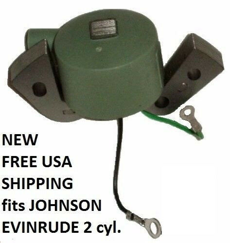 IGNITION COIL 18hp Evinrude Fastwin 50-76 3hp Johnson Seahorse X 2 1951-1972