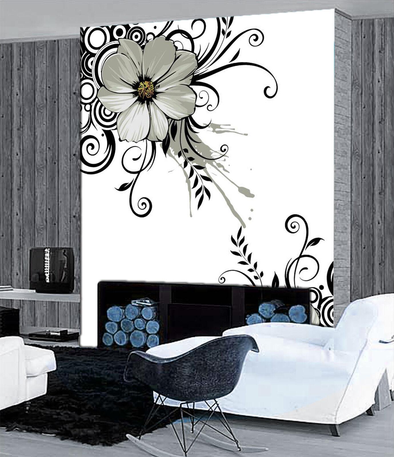 3D Schwarz Blaumen 7889 Tapete Wandgemälde Tapete Tapeten Bild Familie DE Jenny