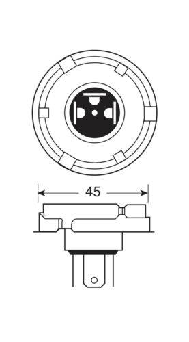 D//BLISTER LAMPA H5 1 PCS - 100//80W P45T 12V HALOGEN LAMP -