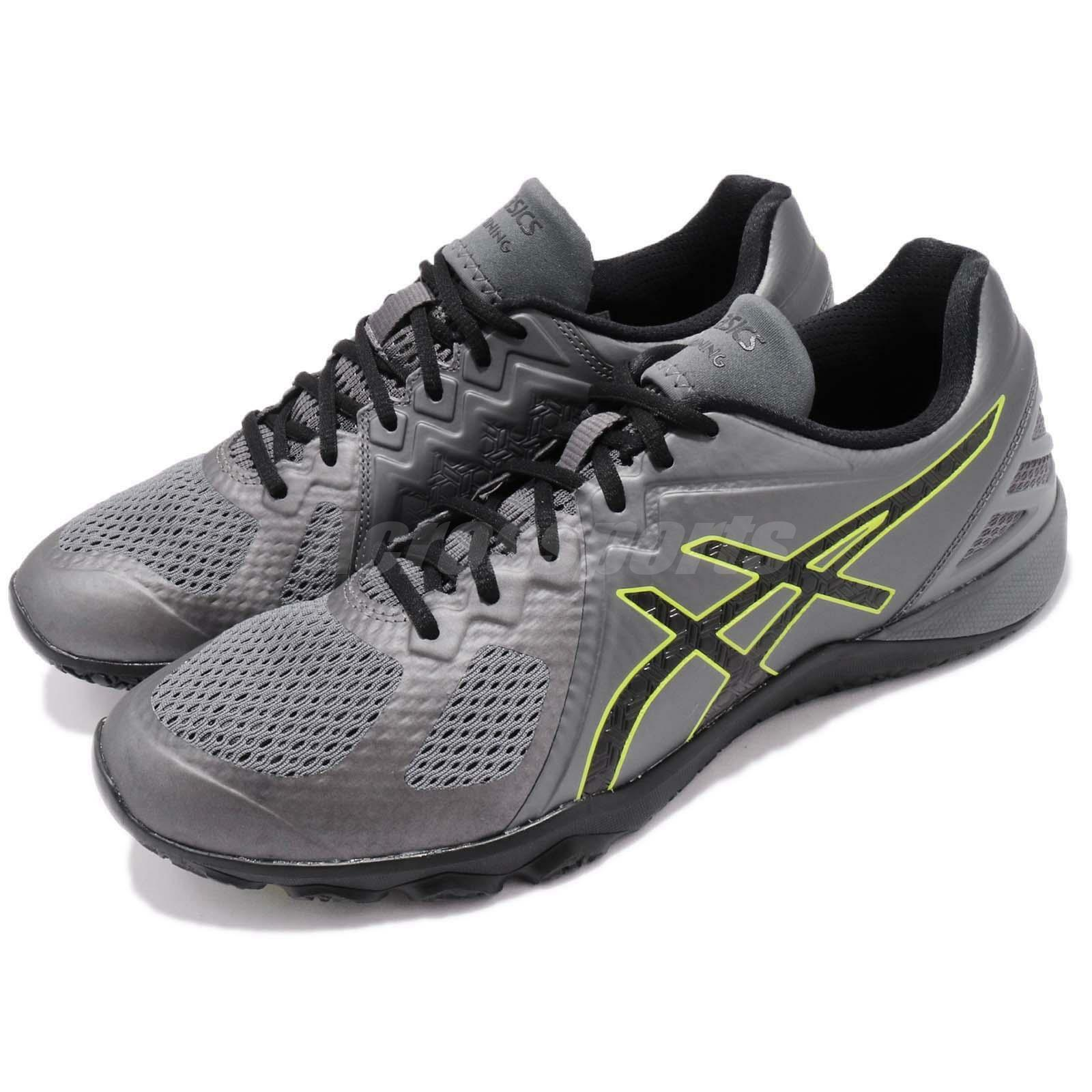 Asics Conviction X Carbon grigio nero verde Mens Cross Training scarpe S703N-9790