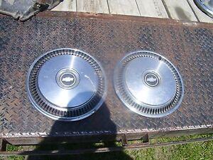 Vintage 14 inch Chevrolet hub caps