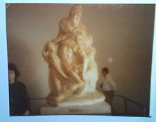 Vintage 80s Photo Florence Italy Old Statue At Museum