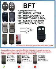 BFT MITTO2, MITTO4 KLEIO TRC Compatible remote control Rolling code 433.92MHz.