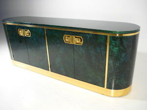 MASTERCRAFT Oval Credenza w/Malachite Laquer Finish Br Mid ... on oval bassinet, oval shelves, oval dining room set, oval mirror, oval bench, oval vanity, oval furniture, oval commode, oval rug, oval closet, oval lighting, oval dresser,