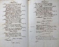 HANDSCHRIFT DEUTSCH SACHSEN ANHALT GRÄFENHAINICHEN SALZZEDEL SALZABRECHNUNG 1622