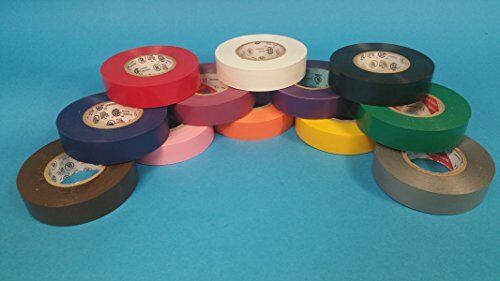 """12 color pack Colored Electrical Tape 3//4/"""" x 66/'"""