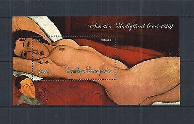 Kunst & Kultur Unparteiisch Central African Republic 2011 Block 922 ** Painting Kunst Modigliani Briefmarken