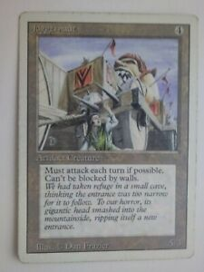 MTG Magic the Gathering English Juggernaut 1994 Revised 3rd Edition LP