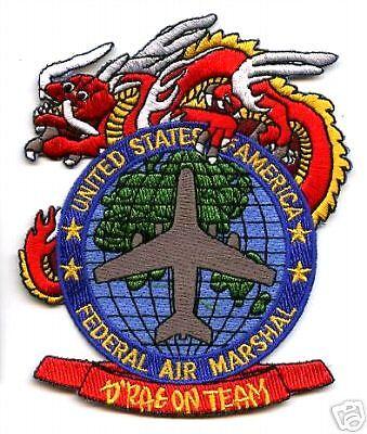 TSA FEDERAL AIR MARSHAL DRAGON TEAM AIR MARSHAL PATCH