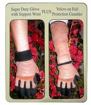 Touchstone Ultimate Rose Full Size Expands to Elbow Gardening Work Gloves Garden