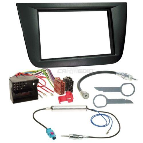 Seat Toledo 5p 04-09 2-din Autoradio Kit de Montage Câble Adaptateur Façade Radio
