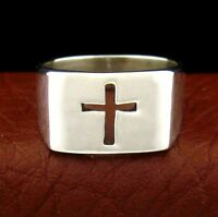 Native American Made Sterling Silver Cross Ring - Select Size ----- R63 A Y