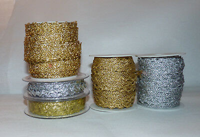Ric rac silver trim ribbon craft dressmaking edging decoration 8mm x 2m length