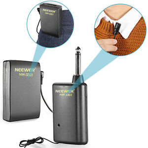 Neewer-Hands-Free-Lavalier-Lapel-Clip-on-Microphone-System-for-Presentation