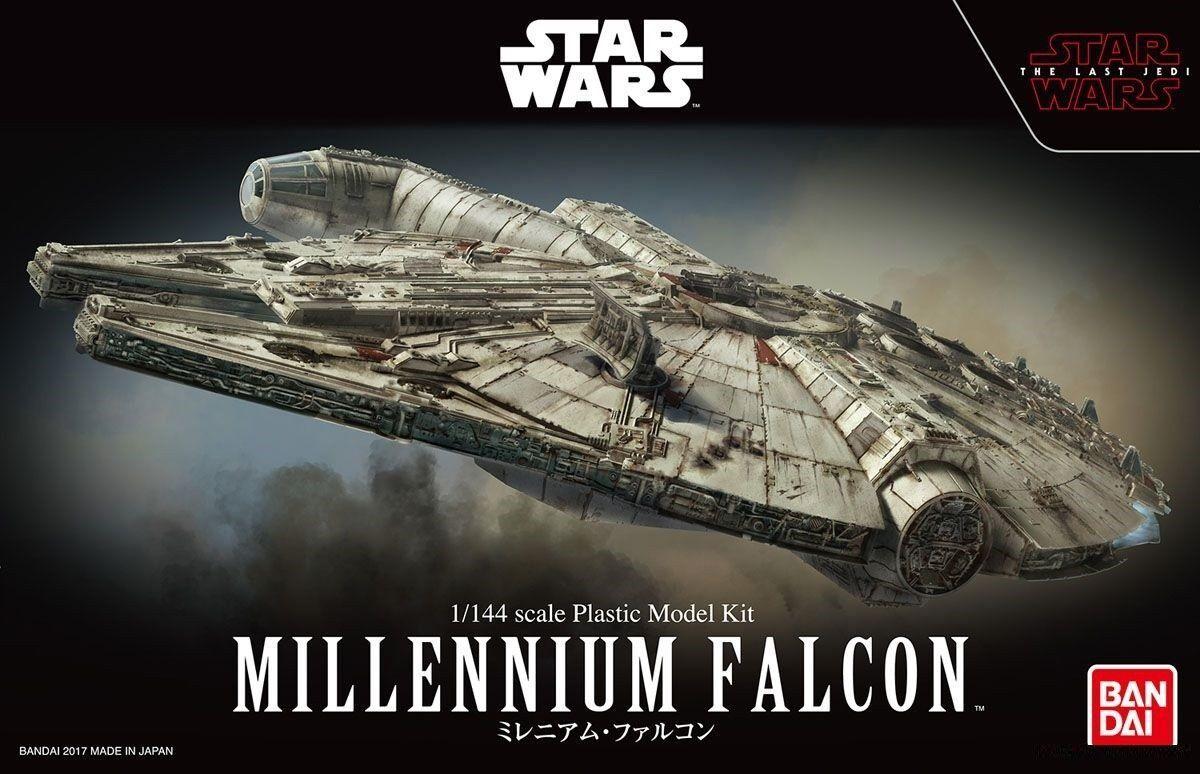 Japan Bandai 1   144 Star Wars Millennium Falcon ( THE LAST JEDI ) Plastic Model