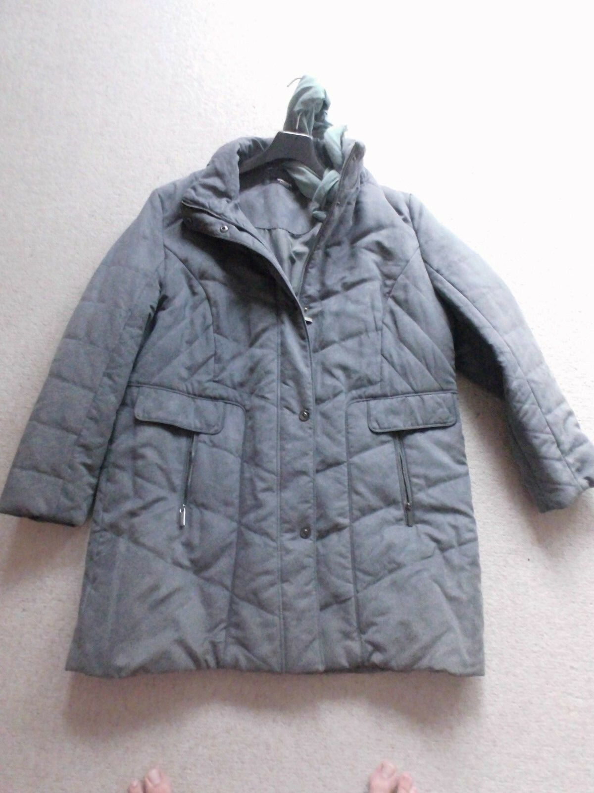 Steppmantel  Wintermantel ,grau  Gr 48 , Walbusch, ungetragen