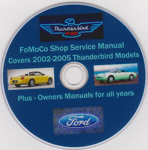 ford thunderbird 2002 2005 fomoco shop service manual plus owners rh ebay com
